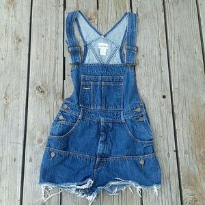 Cutoff Overall Shorts Sz Medium Vintage